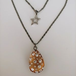 NWT - Betsey Johnson 2-Charm Necklace